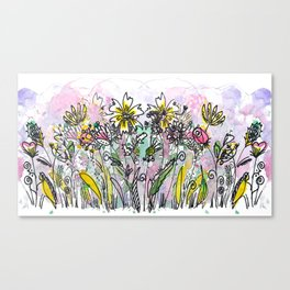 Flowers everywhere! Canvas Print