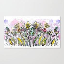 Flowers everywhere! Canvas Print