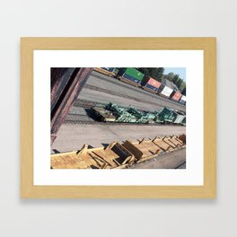Laramie, WY Railroad Tracks Framed Art Print
