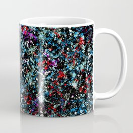 paint drop design - abstract spray paint drops 4 Coffee Mug