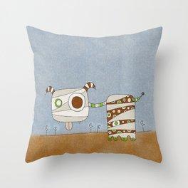 Brown Blah Throw Pillow
