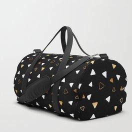 Multi Triangles - Black Duffle Bag