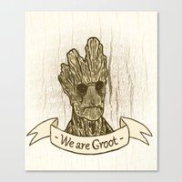 groot Canvas Prints featuring Groot by Lynn Bruce