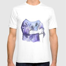 Rolled up Mens Fitted Tee White SMALL