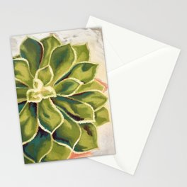 Renewed, Echeveria Succulent Plant Painting Stationery Cards