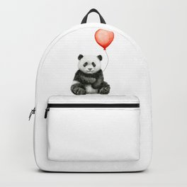 Baby Panda and Red Balloon Backpack