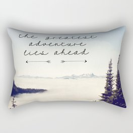 the greatest adventure- mountains Rectangular Pillow