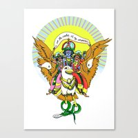 hindu Canvas Prints featuring Hindu Universe by MARICAMA