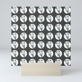 ice cream! grey pat. Mini Art Print