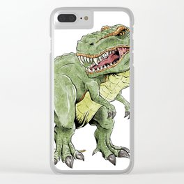 King Lizard Clear iPhone Case