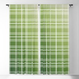 Olive Green Stripes Blackout Curtain
