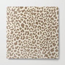 Light Tan Leopard Skin Metal Print