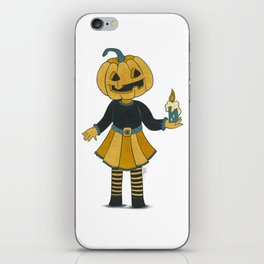 Sweet pumpkin head girl iPhone Skin