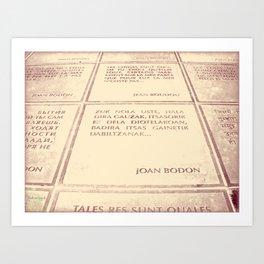 Joan Bodon [1] Art Print