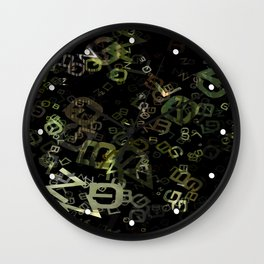 Cactus Garden Letters 3 Wall Clock
