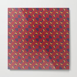 Autumn abstract pattern in red Metal Print