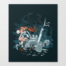 Cyberpunk Beat Down Canvas Print
