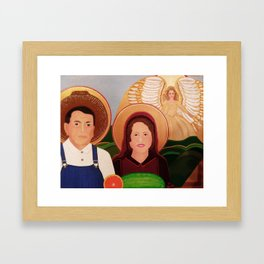 St. Isidore and St. Maria, Farm Workers' Saint  Framed Art Print