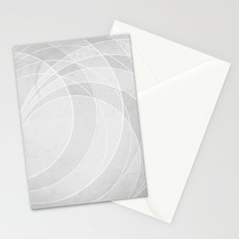 Orbiting Circle Design in Soft White Stationery Cards