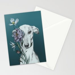 Greyhound Floro blue Stationery Cards