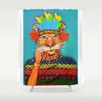 navajo Shower Curtains featuring Navajo Dreams by terezamc.