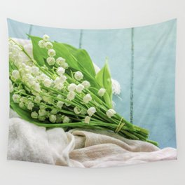 a bunch of lily of the valley Wall Tapestry
