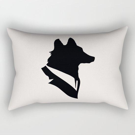 Monsieur Renard / Mr Fox - Animal Silhouette Rectangular Pillow