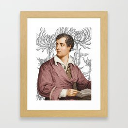 LORD BYRON Framed Art Print