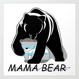 Mama Bear Demiboy Art Print