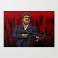 scarface Canvas Prints featuring Scarface by Ben Hayward