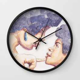 Mother and daughter Wall Clock