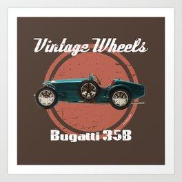 Vintage Wheels: Bugatti 35B Art Print