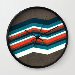 Abstract Retro Stripes Up Wall Clock