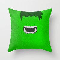 hulk Throw Pillows featuring Hulk by theLinC