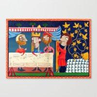 federico babina Canvas Prints featuring L'Epoca di Federico II - Il banchetto by Francesca Cosanti