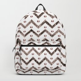 Chevron Glitter Gemstone Glam #1 #shiny #decor #art #society6 Backpack