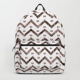 Chevron Glitter Gemstone Glam #1 #shiny #decor #art #society6 Backpack