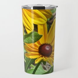 Black-eyed Susans and a Busy Bee Travel Mug