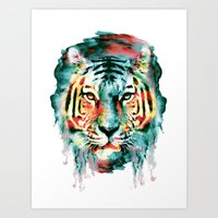 tiger Art Prints featuring TIGER by RIZA PEKER