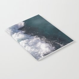 sea - midnight blue wave Notebook