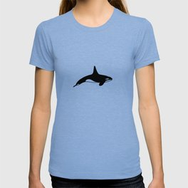 Killer whale in black and white T-shirt