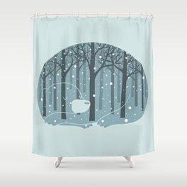 Hibearnation Shower Curtain