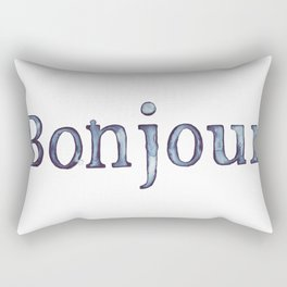 Bonjour Rectangular Pillow