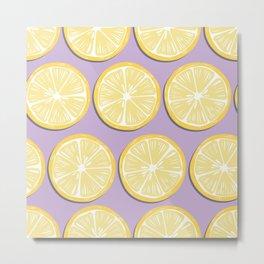 Lemon Pattern 10 Metal Print