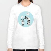 lama Long Sleeve T-shirts featuring Lally Lama by Teodoru Badiu