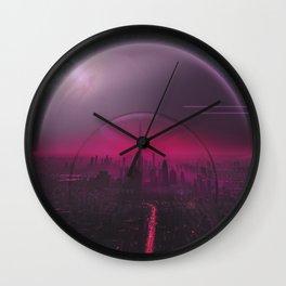 Cyber Punk Planet Wall Clock