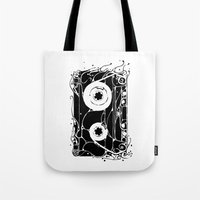 cassette Tote Bags featuring cassette by barmalisiRTB