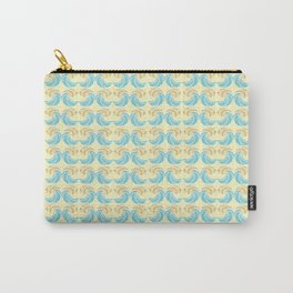 Trippy Wave Pattern Carry-All Pouch