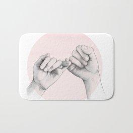 pinky swear // hand study Bath Mat