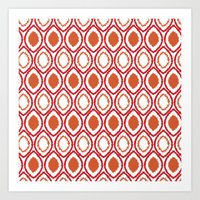ikat Art Prints featuring Ikat by Jay Hooker Designs